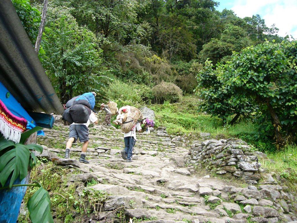 ウレリの階段 2006 ゴレパニ・トレッキング
