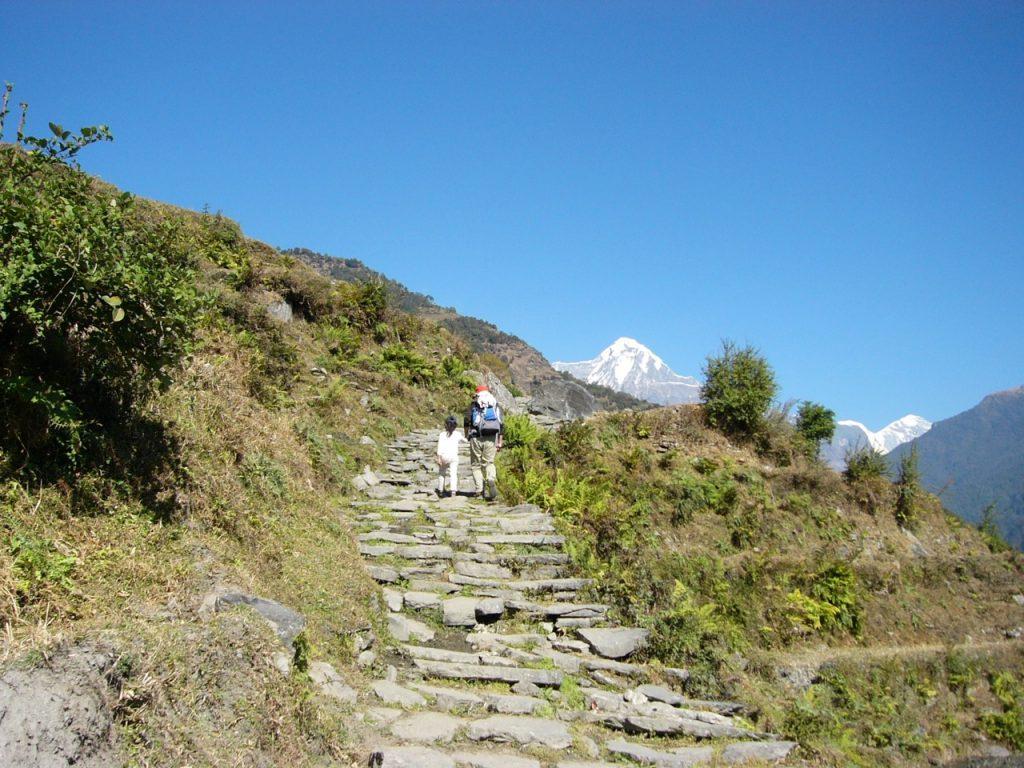 石段を上る 2007/08 デウラリ・トレッキング