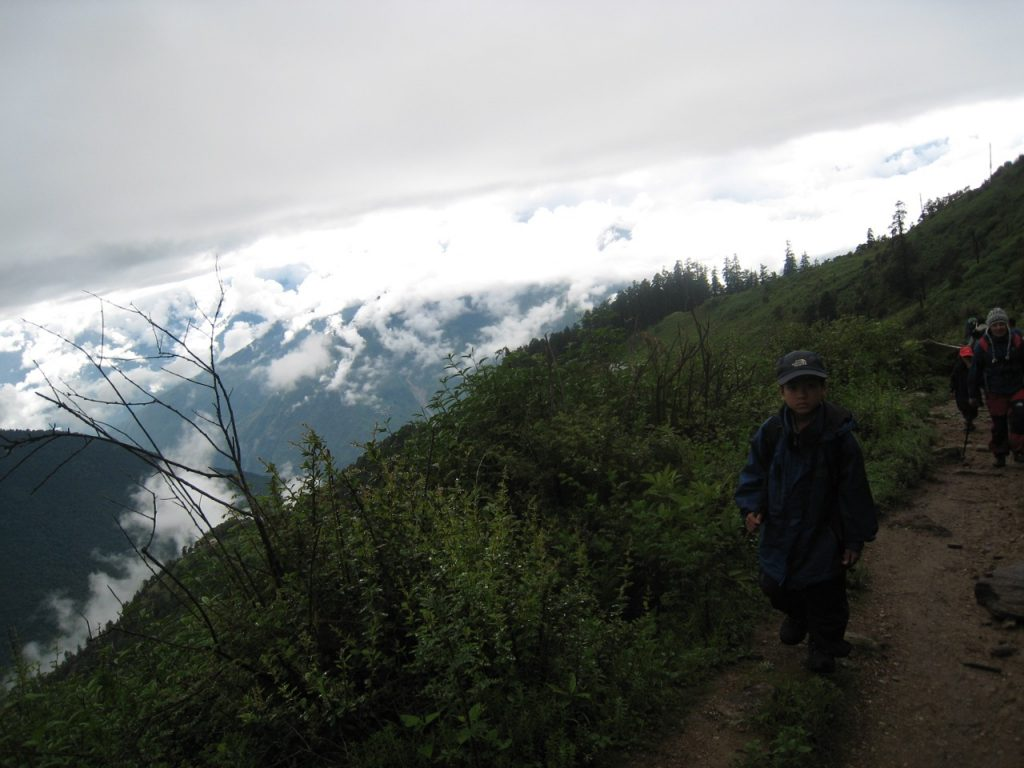 山がきれい見えた 2008 ランタン・トレッキング