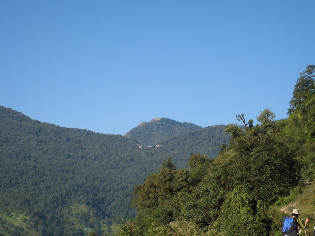 タダパニが見えてきた 2008 アンナプルナ・ベースキャンプ・トレッキング