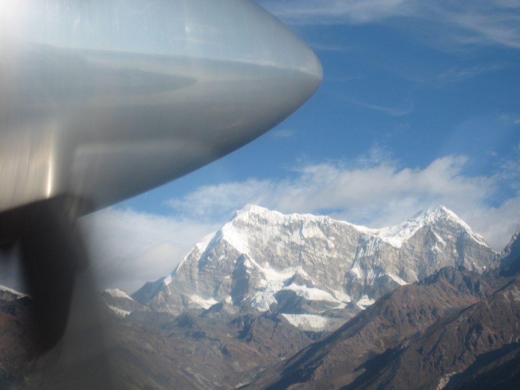 機中からの景色 2009 ナムチェ・バザール・トレッキング
