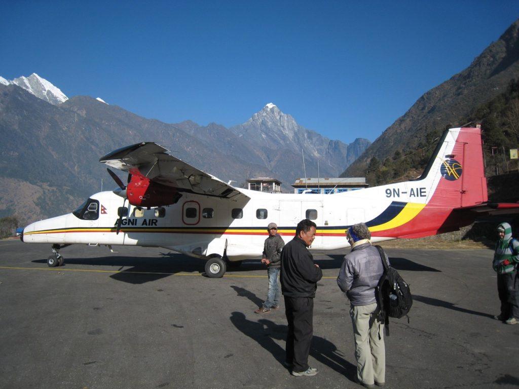 利用したアグニ航空 2009 ナムチェ・バザール・トレッキング