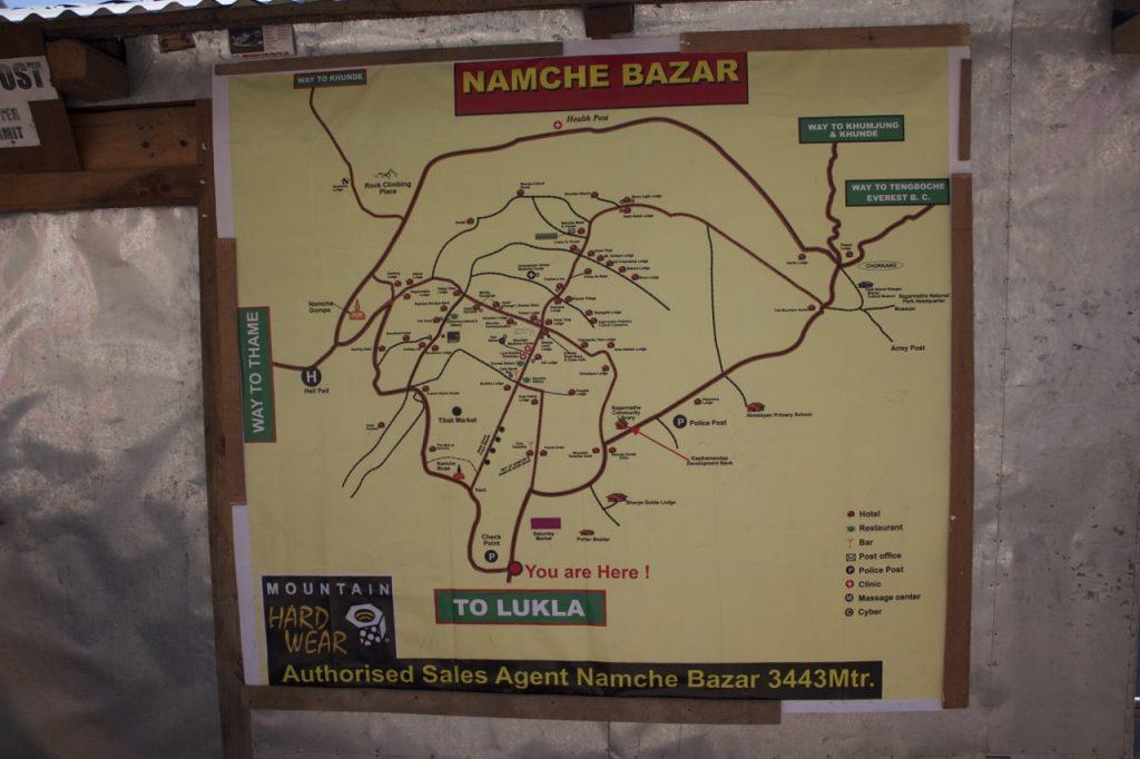 ナムチェ・バザールの案内図 2010/11 ナムチェ・バザール・トレッキング