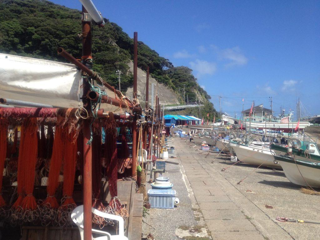 天津小湊の漁港 2012年9月17日