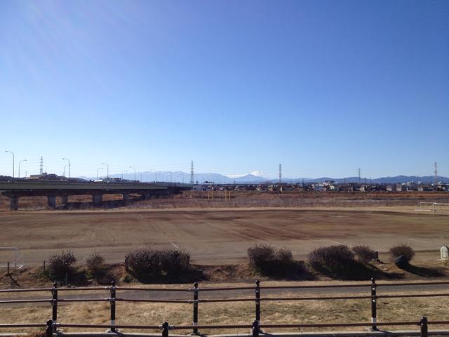 多摩川サイクリングロードから富士山 2013/1/27