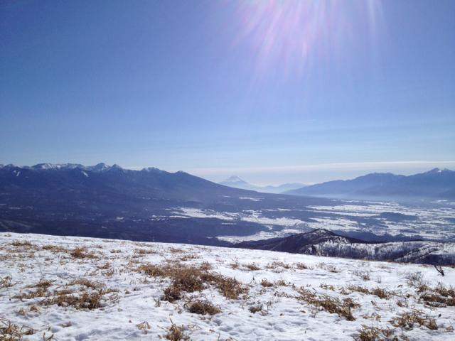 富士山が見えた 車山高原 2013年2月3日