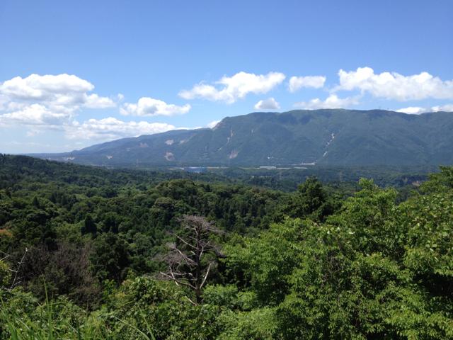 川原農村公園から藤原岳 2013年6月16日