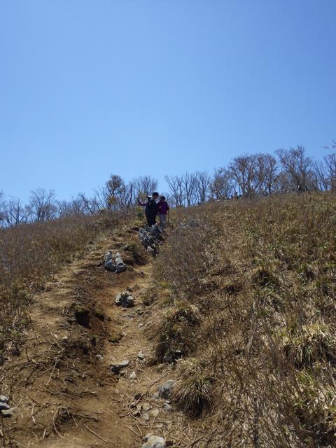 下山を始める 藤原岳 -2013年4月28日