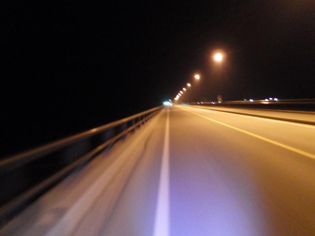深夜の国道52号を進む (2015BRM425神奈川400興津)