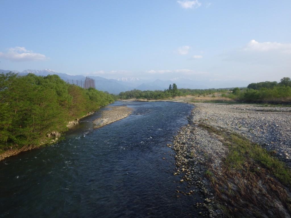 高瀬川を渡る (2015BRM509神奈川600興津)