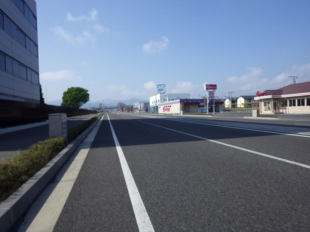 塩尻市郊外の国道19号線は改良が進んでいる (2015BRM509神奈川600興津)