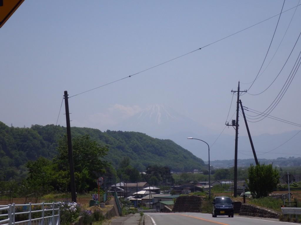 富士山が見えてきた (2015BRM509神奈川600興津)