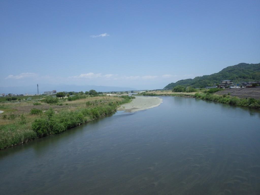 富士川を渡る 下りはここまで (2015BRM509神奈川600興津)