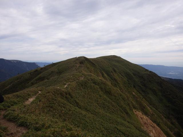 竜ヶ岳頂上を望む 2014年9月17日