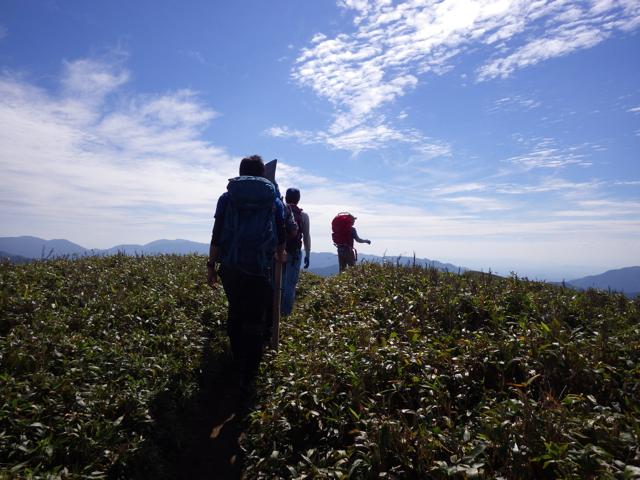 笹原を進む 2014年9月17日