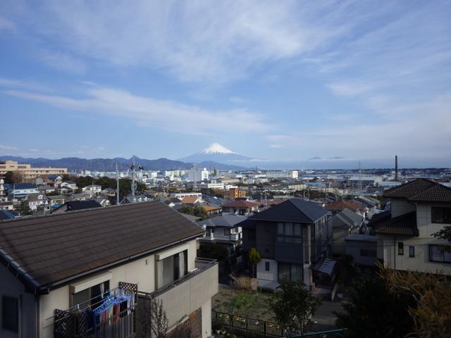 日本平下りの途中から富士山 BRM104静岡200km (2015年1月4日)