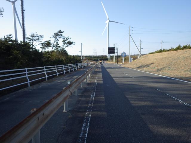 浜岡原発付近の風車は動いていなかった BRM104静岡200km (2015年1月4日)