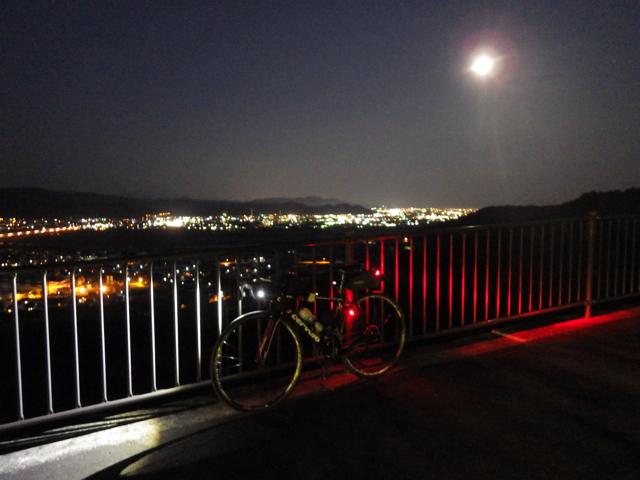 島田市の夜景が見えて来た BRM104静岡200km (2015年1月4日)
