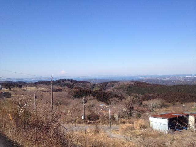 鹿野山から見える富士山 2012/2/12