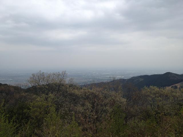 二之瀬峠の展望台から海津市方向 2013年4月20日