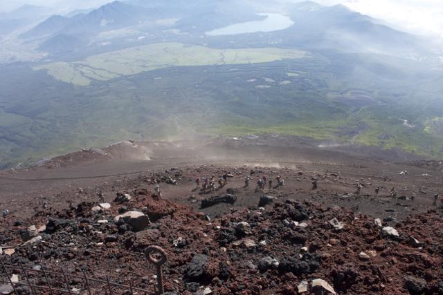 下山開始 富士登山 2011年7月11日