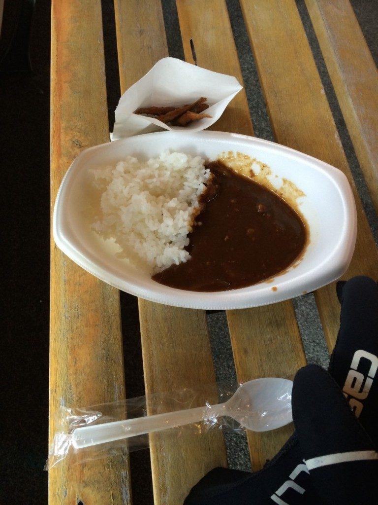 第3エイドでの昼食 2014 びわ湖一周ロングライド 2014年3月16日