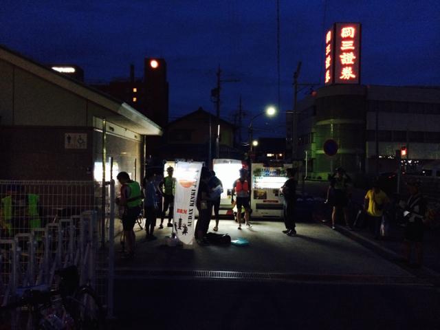 スタート地点の松阪駅前 2014 BRM802近畿300km松阪