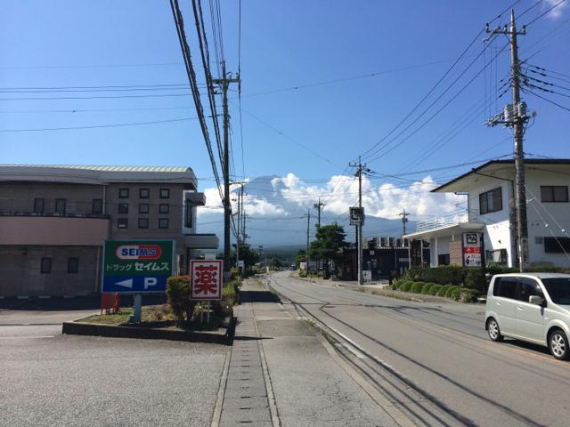河口湖側からの富士山 BRM914神奈川400km (2014年9月14日)