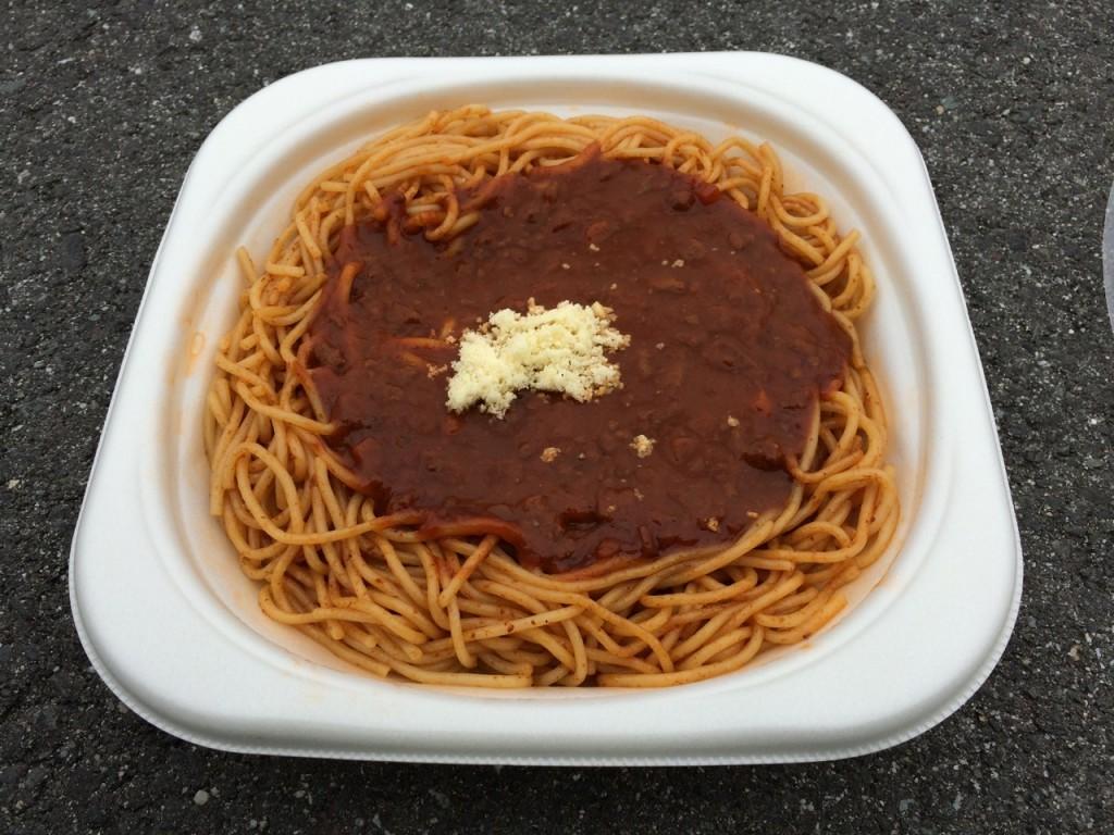 昼食はパスタ (2015BRM509神奈川600興津)