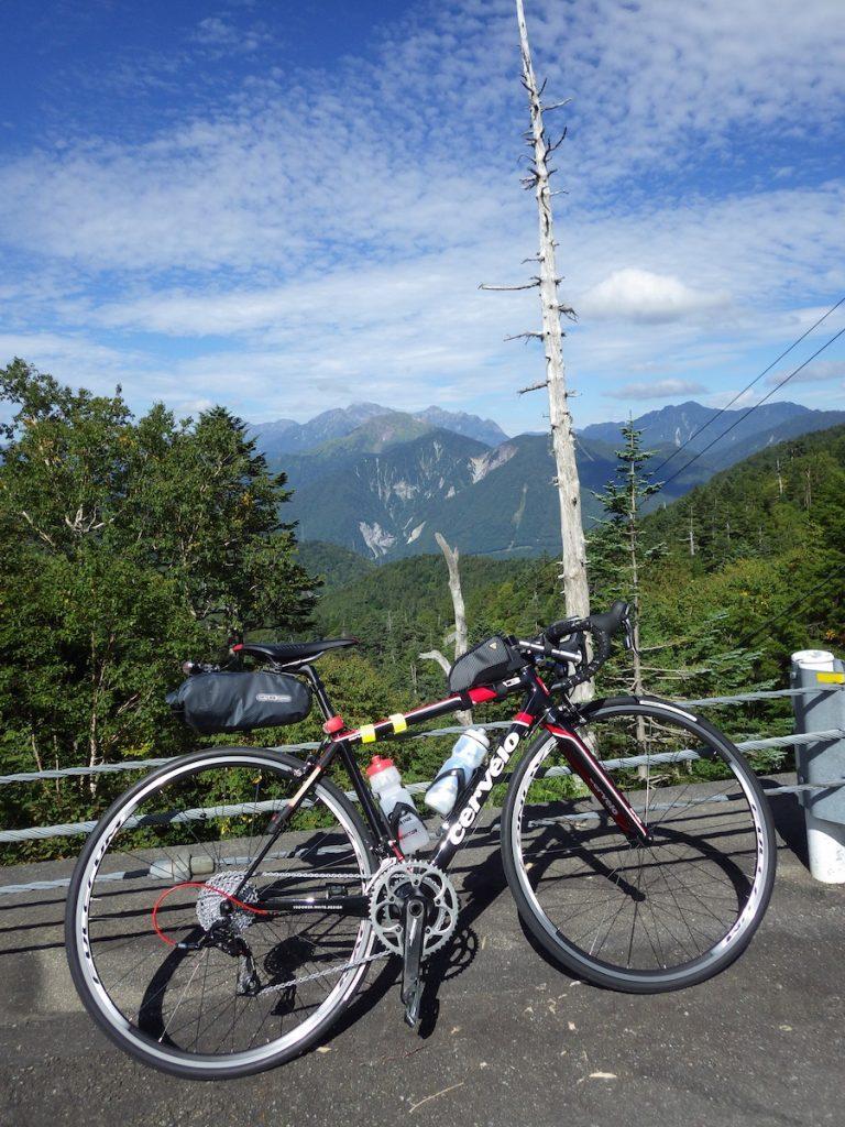 おそらく穂高岳の方向 2015BRM912近畿400金沢