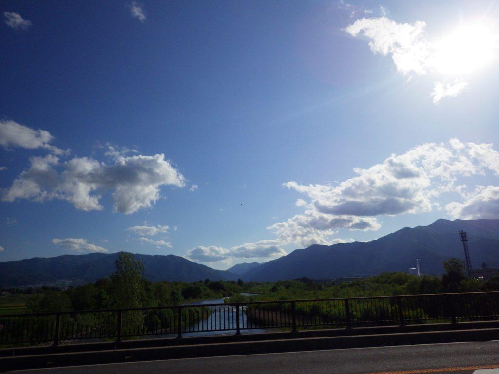 安曇野の空は美しい