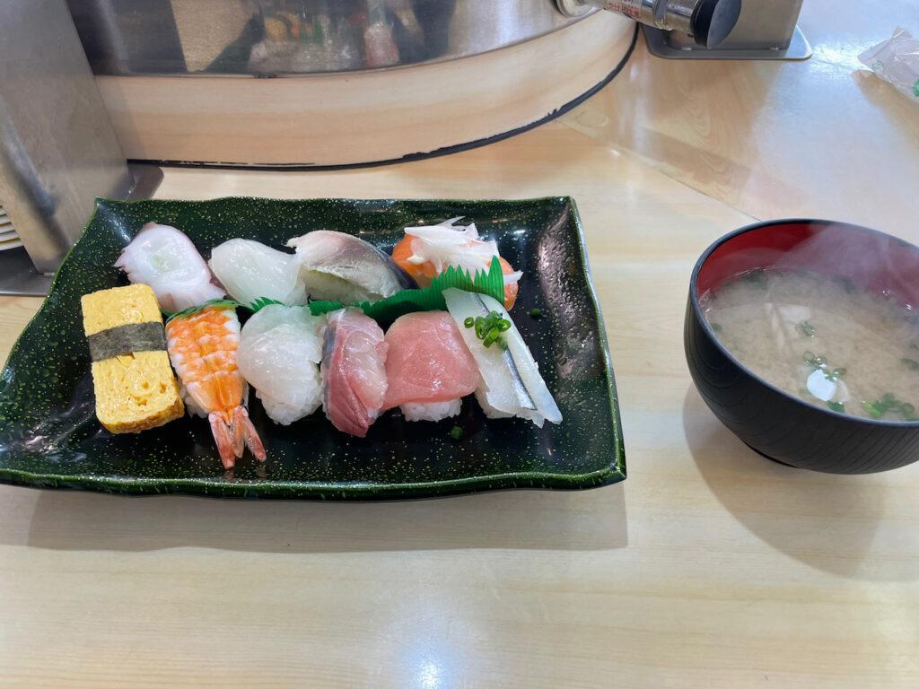 ランチメニューのお寿司